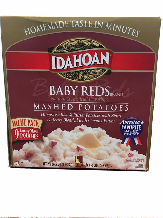 Idahoan Baby Reds Mashed Potatoes Value Pack 9 Family-Sized Pouches 36.9oz
