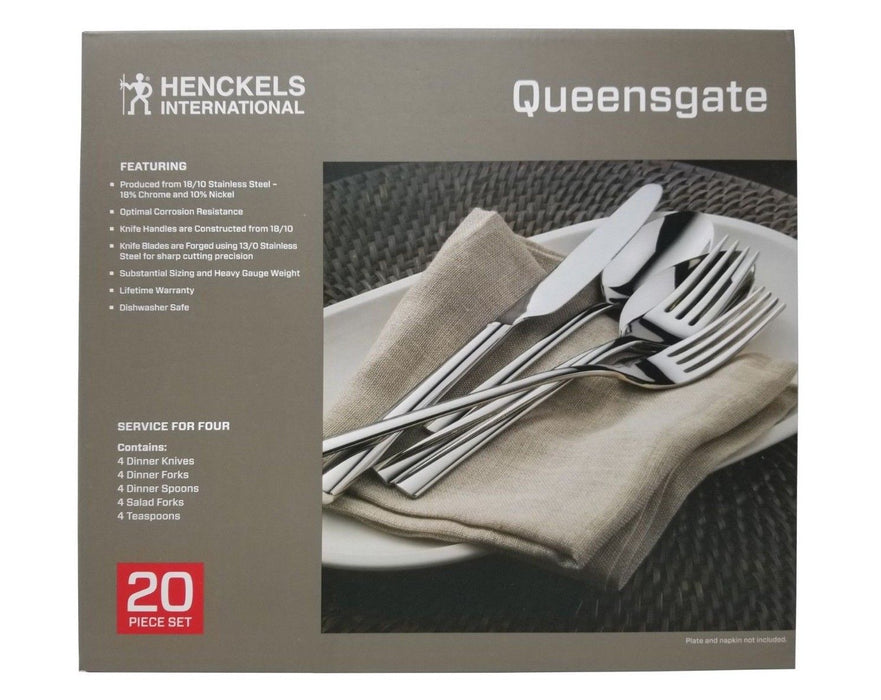 Henckels International Queensgate Flatware 18/10 Stainless Steel 20 Piece Set