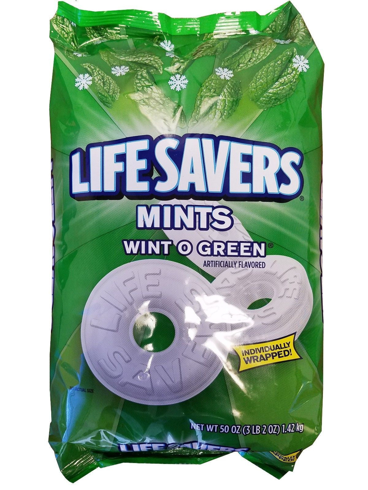 Life Savers Mints Wint O Green Party Bag Wintergreen Candy 3LB 2OZ