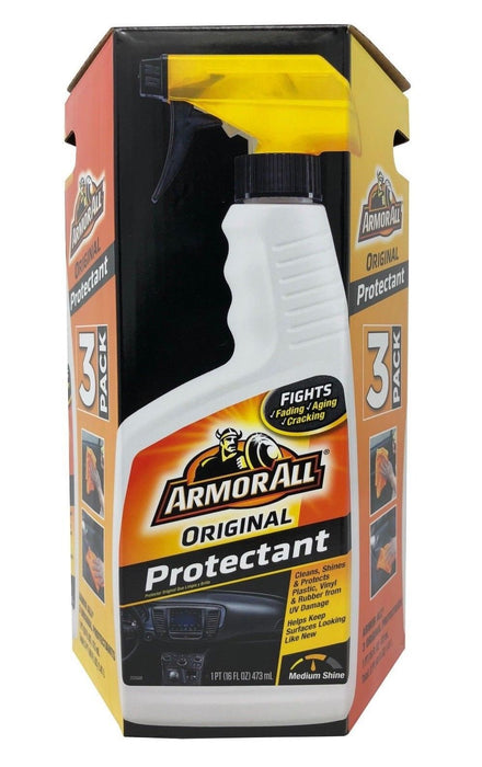 ArmorAll Original Protectant Cleans, Shines & Protects 16 fl oz Each 3 Pack