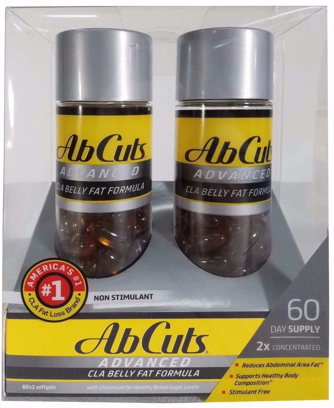 Ab Cuts Advanced CLA Belly Fat Formula 2x Concentrated 60 Day Supply