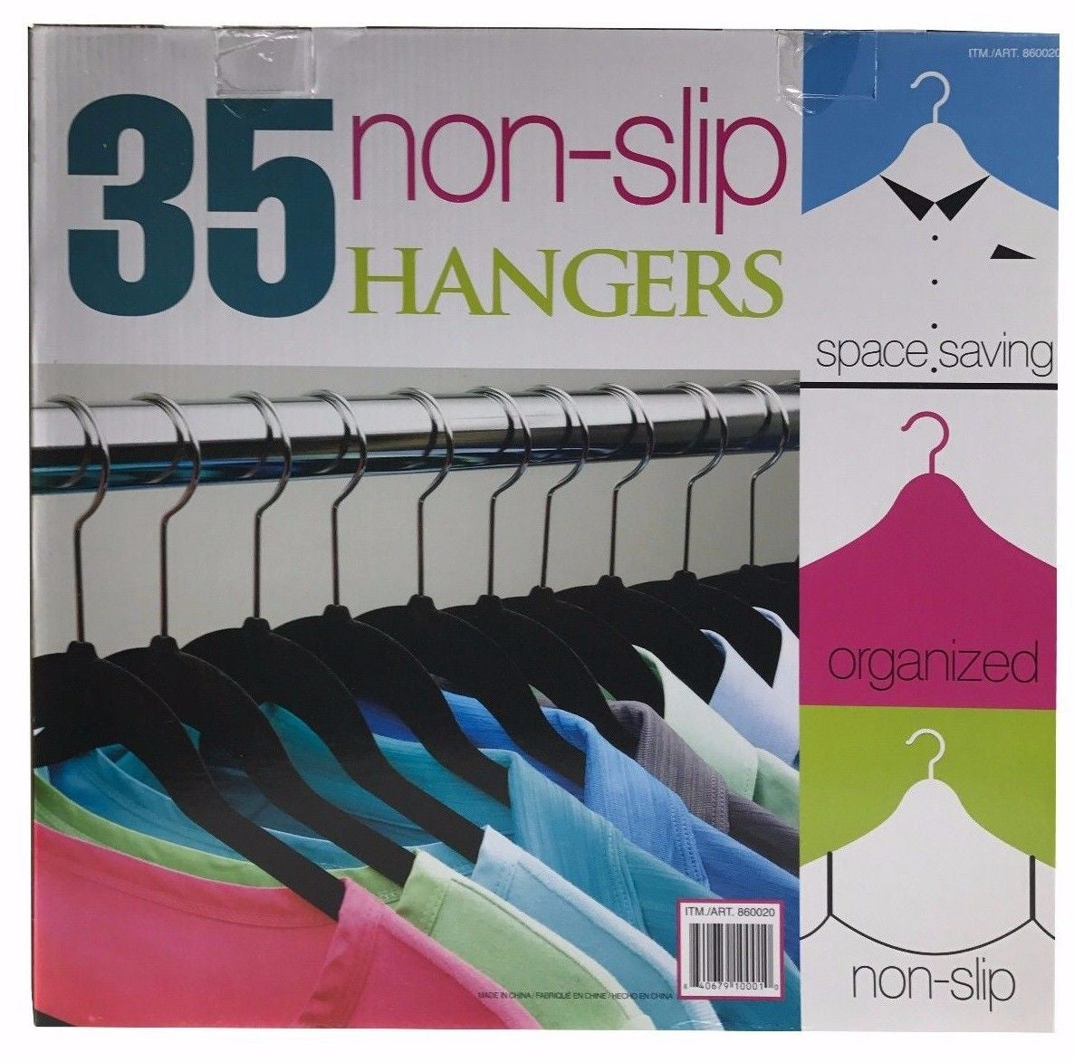 Non-Slip Hangers Space Saving 35 Pack