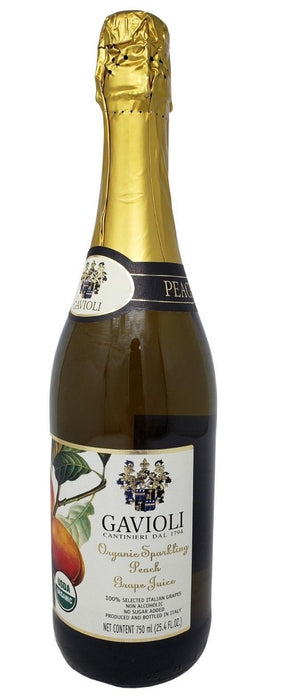 Gavioli Organic Sparkling Italian Grape Juice Non-Alcoholic 25.4 FL OZ - Peach