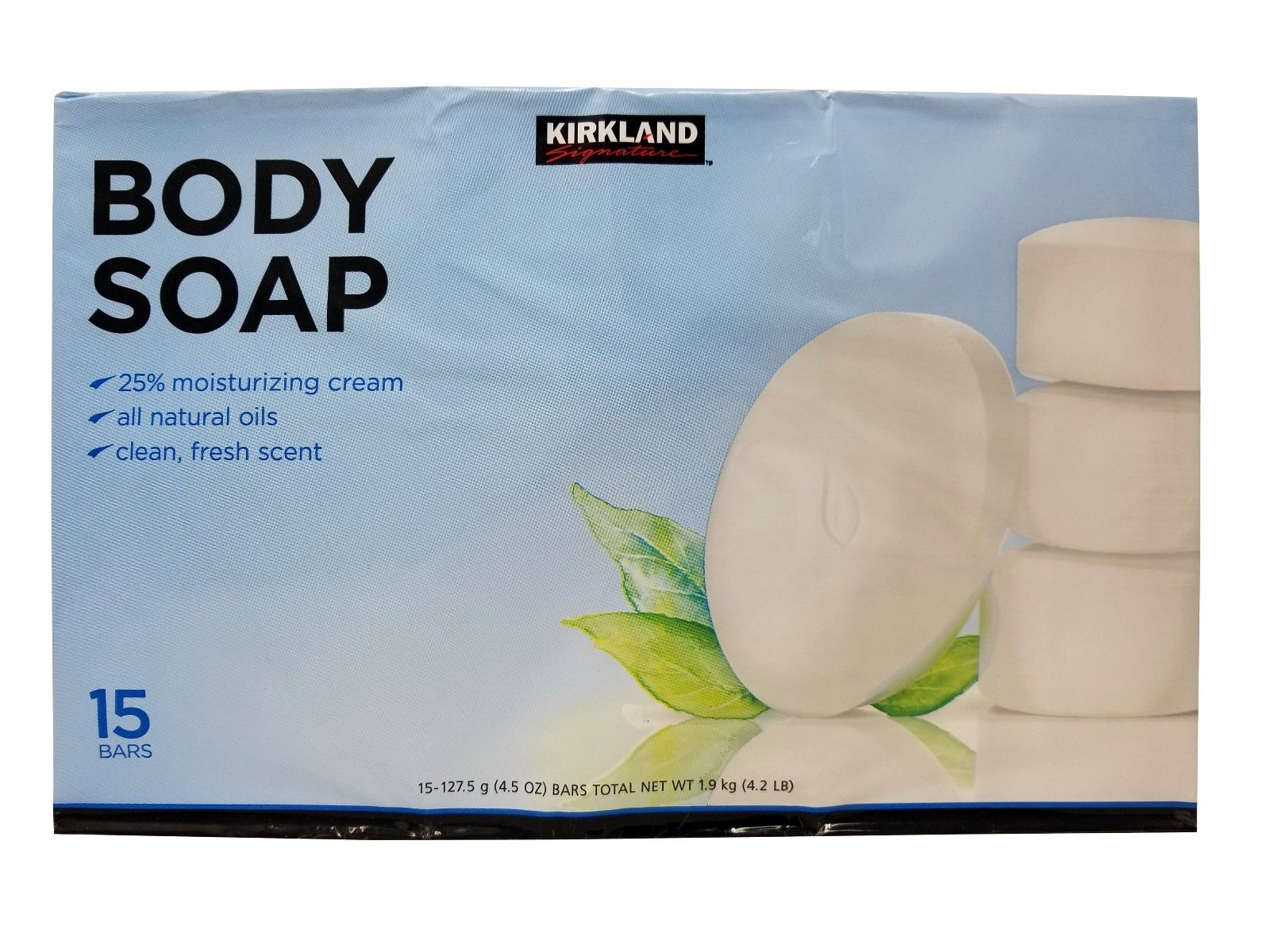 Kirkland Signature Body Soap with All Natural Oils 15 Bars Net Wt ...