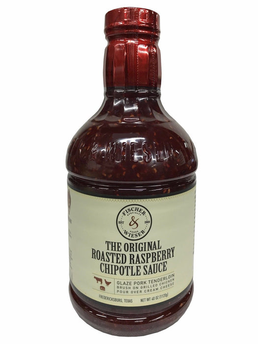 Fischer & Weiser The Original Roasted Raspberry Chipotle Sauce Smoky Sweet 40 OZ