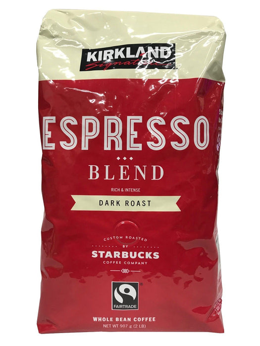 Kirkland Signature Starbucks Espresso Blend Dark Roast Whole Bean Coffee 2LB