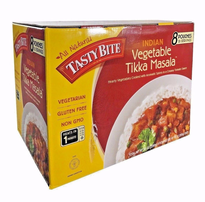 All Natural Tasty Bite Indian Vegetable Tikka Masala 8 Pouches 16 Servings 80 OZ