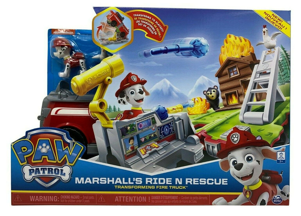 Nickelodeon Paw Patrol Marshall's Ride N Rescue Fire Truck