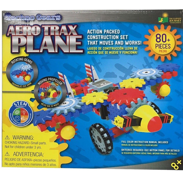 Techno Gears Aero Trax Plane Action Packed Construction Set 80 Pieces