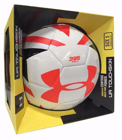 Under Armour UA Touchskin 395 Soccer Ball Size 5 White Coral