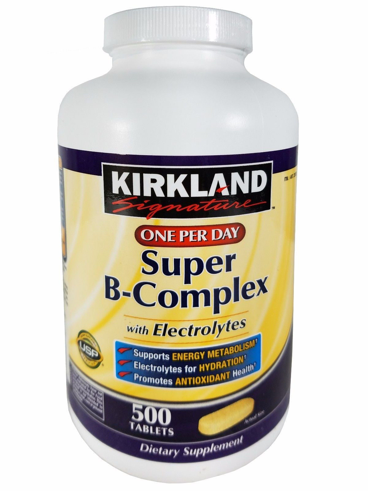 Kirkland Super B-Complex with Electrolytes One per Day Supplement 500 Tablets