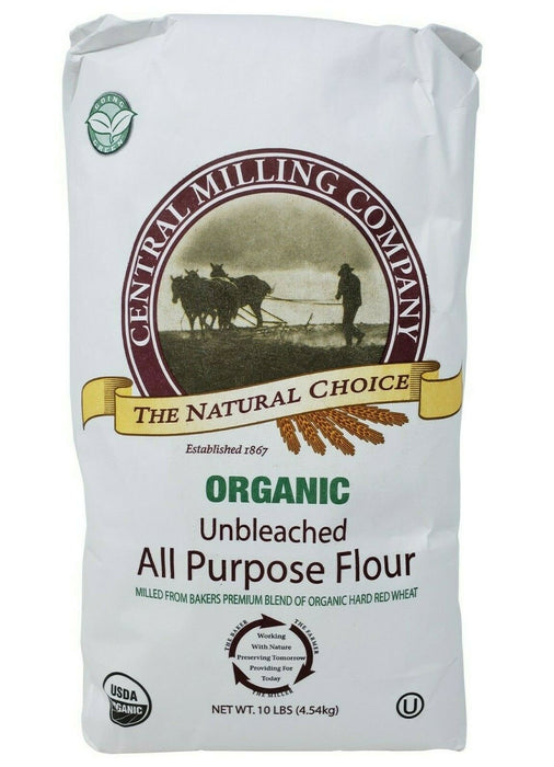 Central Milling Company Organic Unbleached All Purpose Flour 10 LB