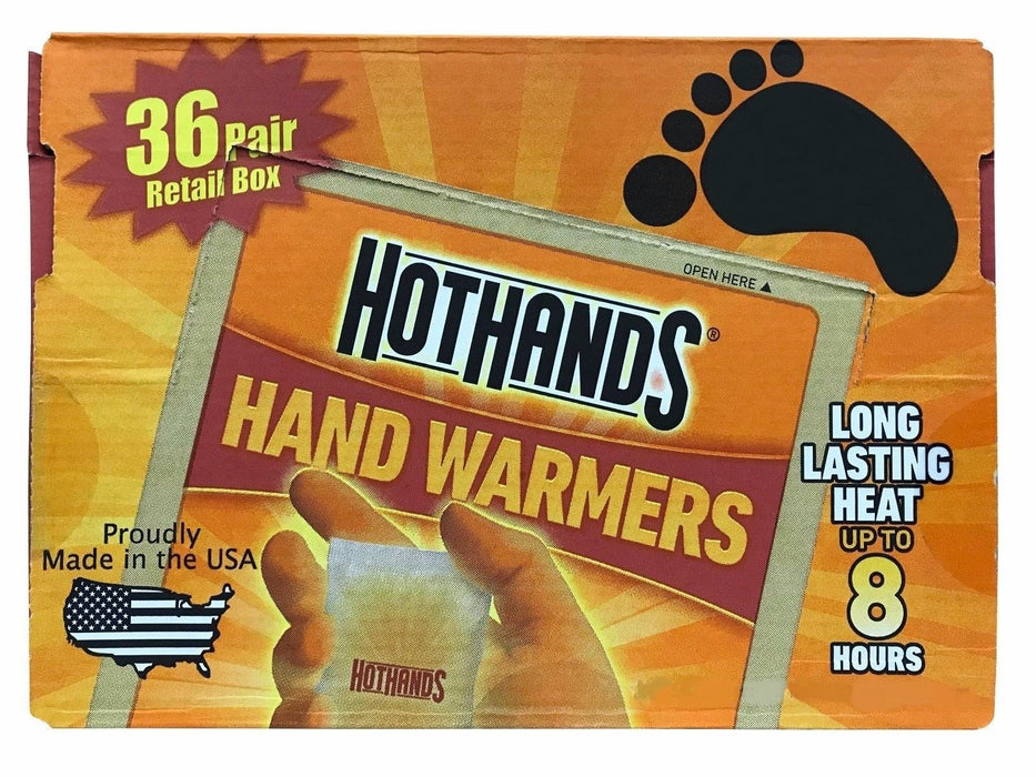 Hot Hands Hand Warmers Air Activated, Safe, Natural Heat 36 Pair Retail Box