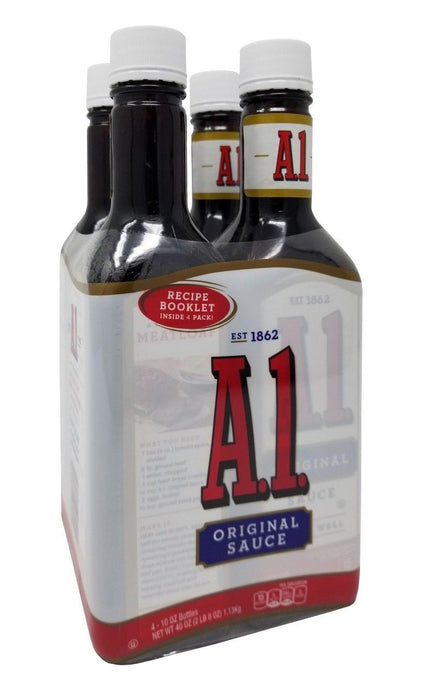 A1 Original Steak Sauce 10 oz Bottles 4 Pack
