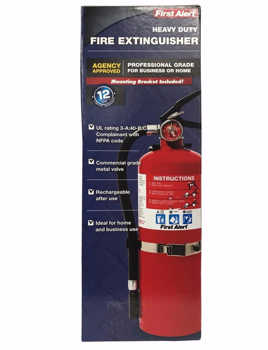 First Alert Heavy Duty Fire Extinguisher Professional Grade for Business & Home