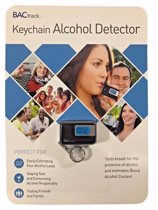 BACtrack Keychain Alcohol Detector with LED Display & Fold Out Mouthpiece