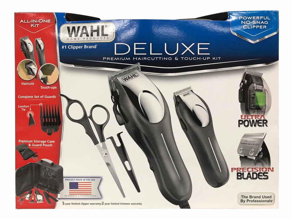Wahl Deluxe Premium Haircutting & Touchup All-in-One kit with Precision Blades