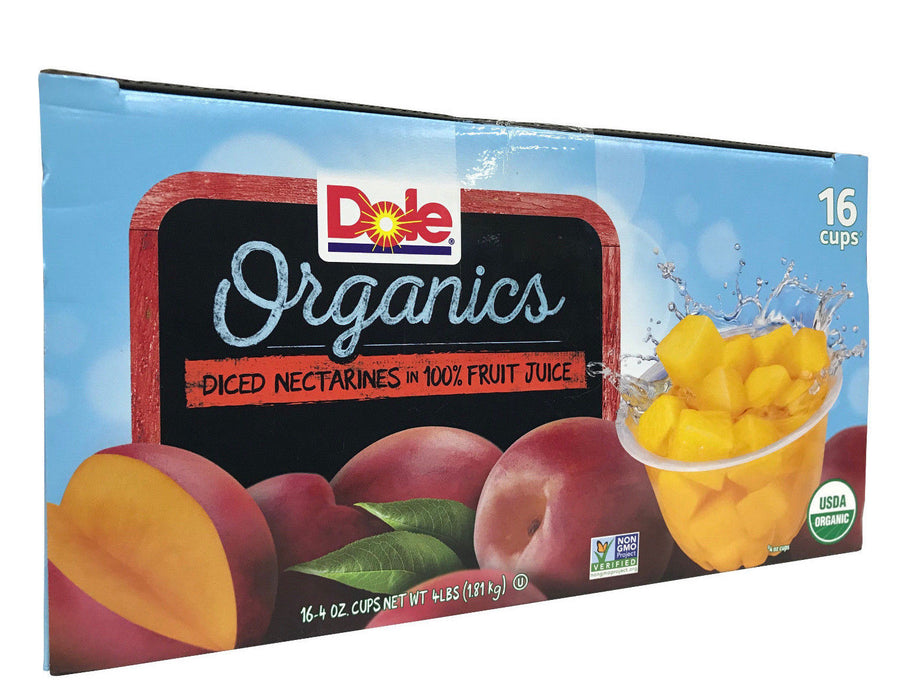Dole Organic Diced Nectarines in 100% Fruit Juice Net 4 LB 16 Cups