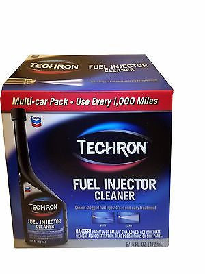 Chevron Techron Fuel Injector Cleaner 6 Multi-Car Pack 16 fl oz Each
