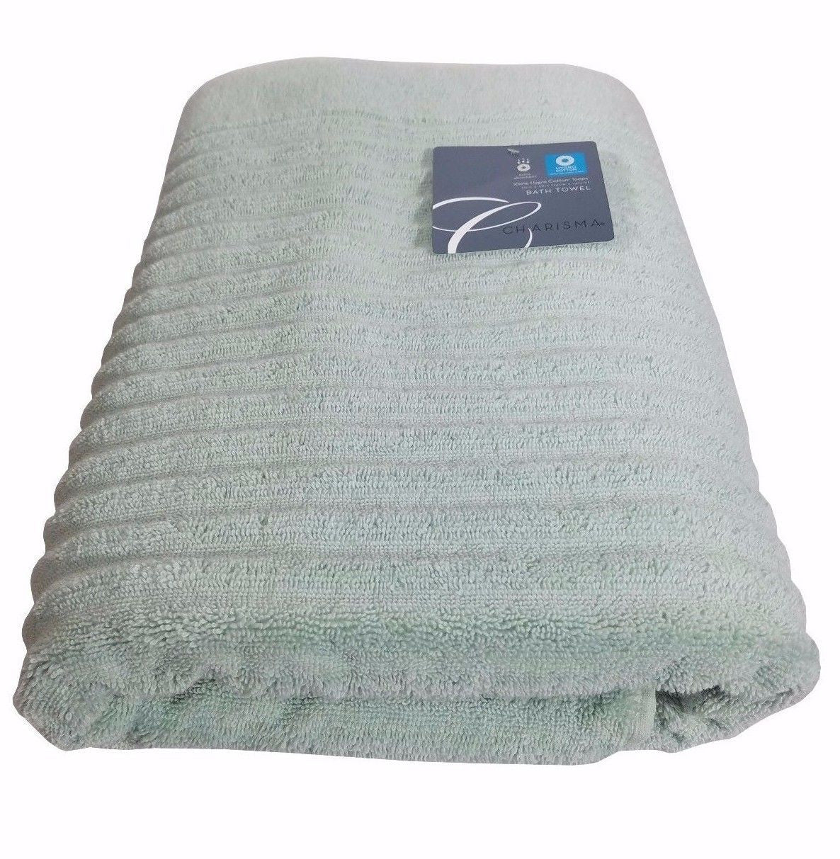 Charisma Luxury Ribbed Bath Towel 100% Hygro Cotton 30in x 58in - Moonlight Jade