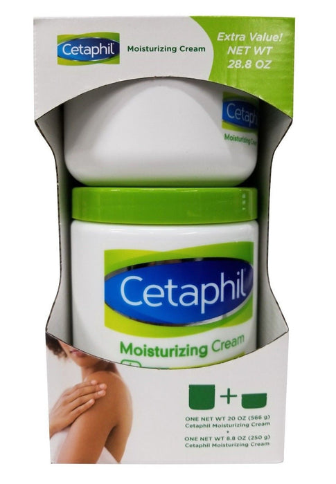 Cetaphil Moisturizing Cream for Dry Sensitive Skin 2 Pack Net 28.8 OZ