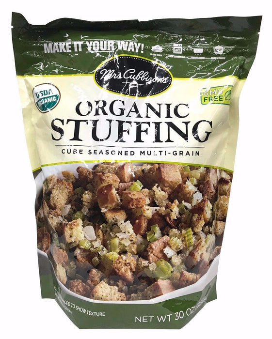 Mrs. Cubbison's Organic Stuffing Cube Seasoned Multi-Grain 30 OZ