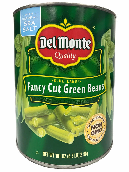 Del Monte Quality Blue Lake Fancy Cut Green Beans with Natural Sea Salt 6.3 LB