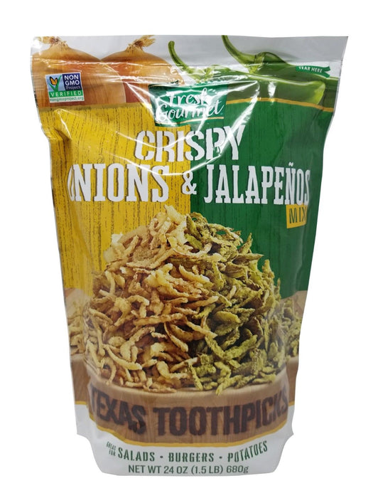 Fresh Gourmet Texas Toothpicks Crispy Onion & Jalapenos Mix 1.5 LB