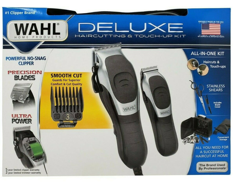 Wahl Deluxe Haircutting & Touch-Up All-In-One Kit with Premium Storage Case