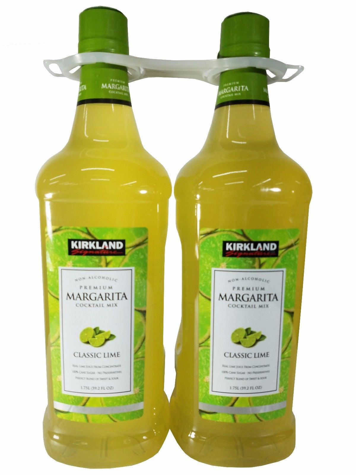 2 Pack Kirkland Margarita Cocktail Mix Classic Lime Non-Alcoholic 3.5 L