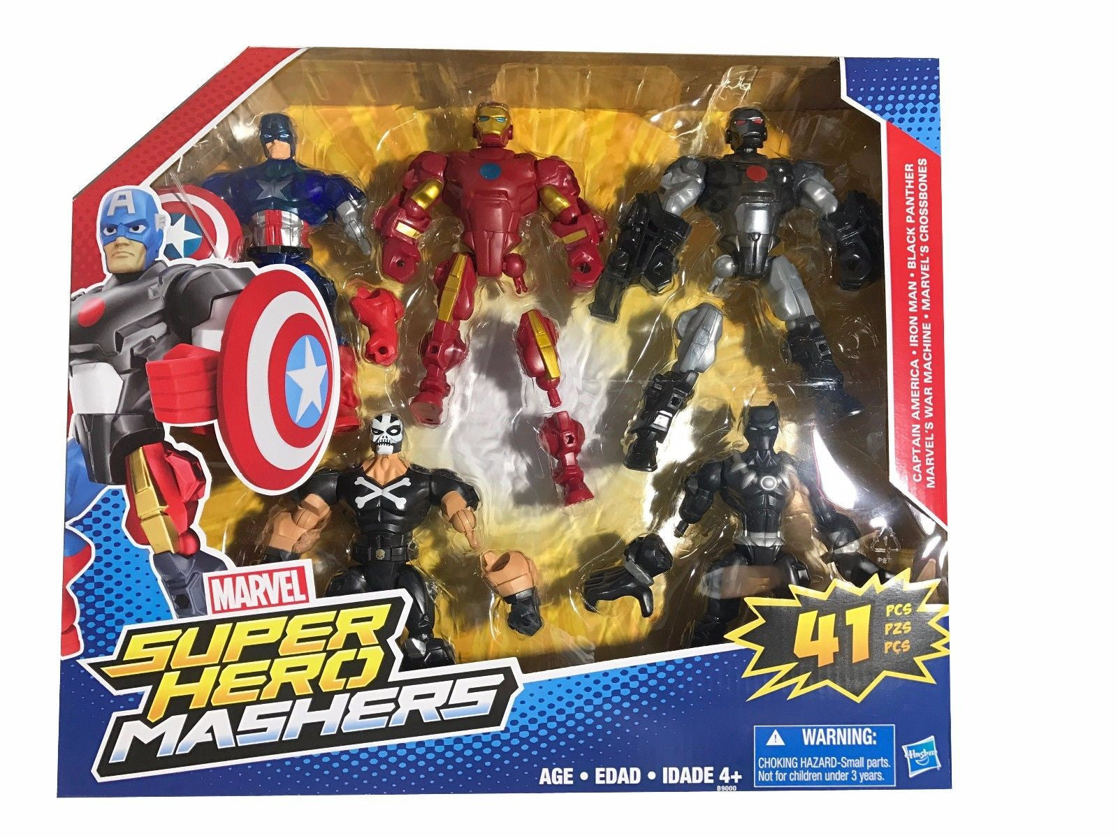 Marvel Super Hero Mashers 41 Pcs Captain America, Iron Man, Black Panther