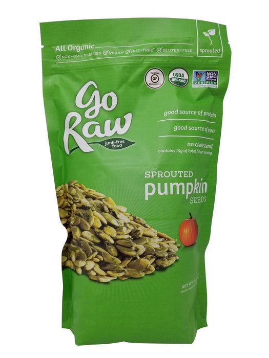 Go Raw All Organic Sprouted Pumpkin Seeds, Vegan, Nut-Free 18 OZ