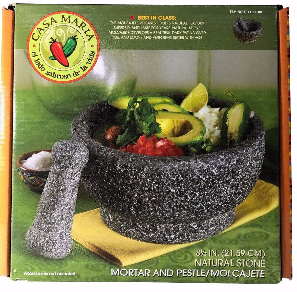 Casa Maria Natural Stone Mortar & Pestle 8.5 in.