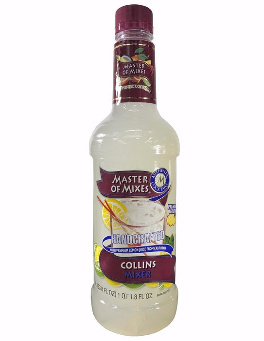Master of Mixes Collins Mixer Authentic Cocktails Non-Alcoholic 33.8 FL OZ