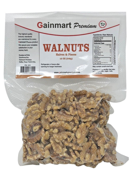 Gainmart Premium Walnuts Halves & Pieces 12 OZ