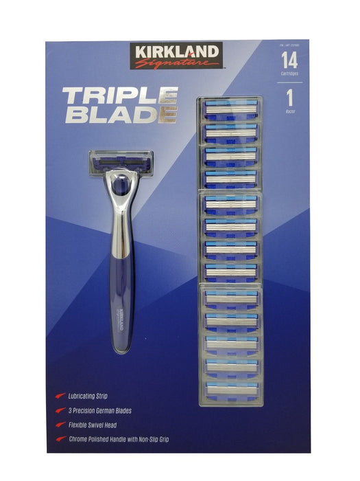 Kirkland Signature Triple Blade 14 Cartridges 1 Razor Pack