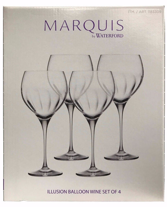 Marquis by Waterford Illusion Balloon Wine Glasses Set of 4