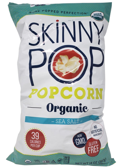 Skinny Pop Organic Popcorn Sea Salt Pure Popped Perfection 14 OZ