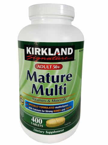 Kirkland Adult 50+ Mature Multi Vitamins & Minerals Supplement 400 Tablets