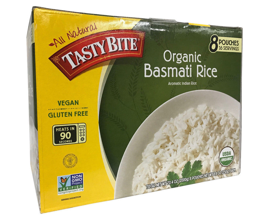 All Natural Tasty Bite Organic Basmati Rice 8 Pouches 16 Servings 70.4 OZ