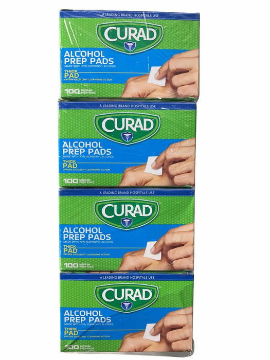 Curad Alcohol Prep Pads Thick Medium Pads 400