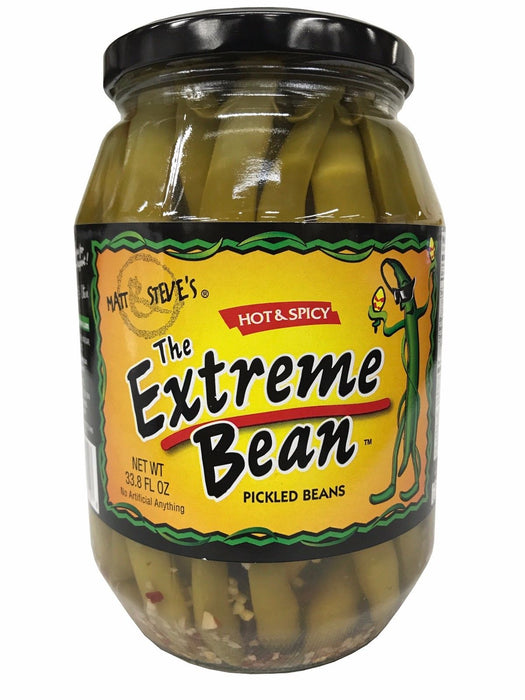 Matt & Steve's The Extreme Bean Hot & Spicy Pickled Beans 33.8 FL OZ