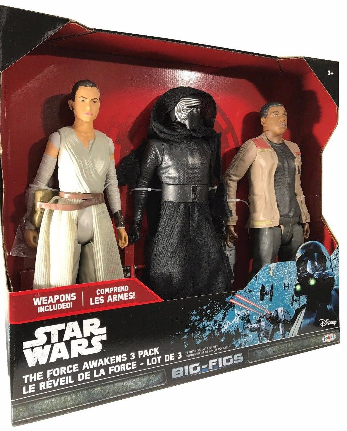 Star Wars The Force Awakens 3 Pack 18 inch Tall Figures - Weapons Included