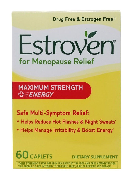 Estroven Menopause Relief Maximum Strength+Energy Dietary Supplement 60 Caplets