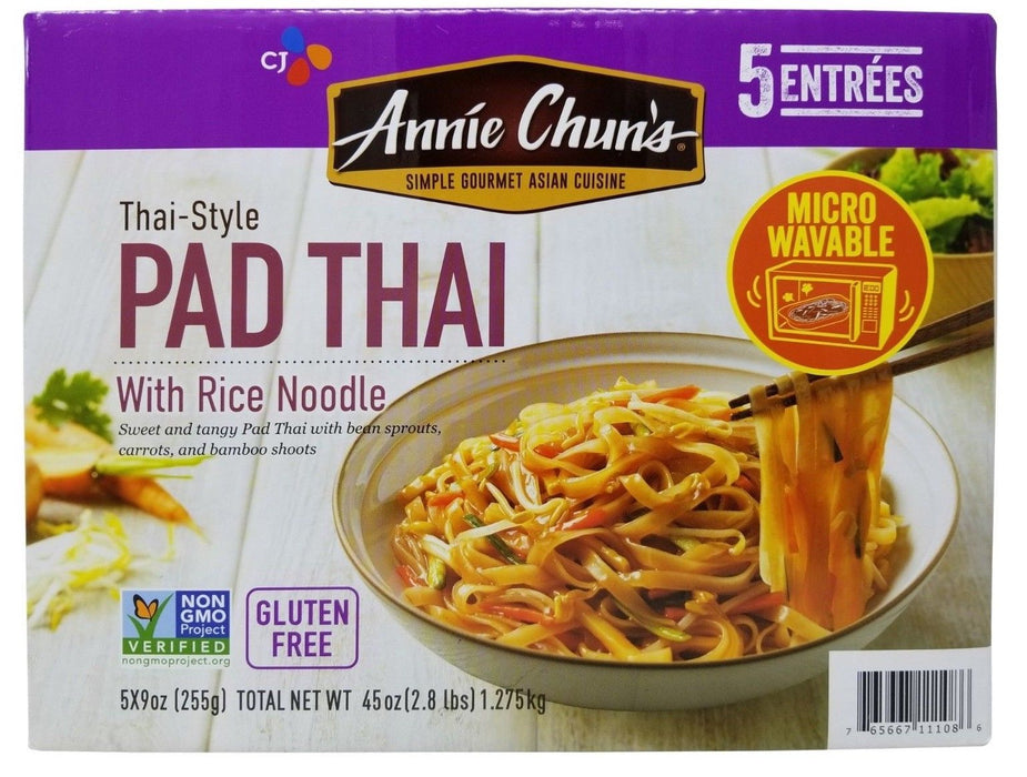 Annie Chun's Pad Thai with Rice Noodle 5 Entrees Gluten Free Net 2.8 LB