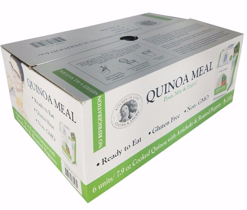 Cucina & Amore Quinoa Meal Cooked with Artichoke & Roasted Peppers 7.9oz 6 Pack