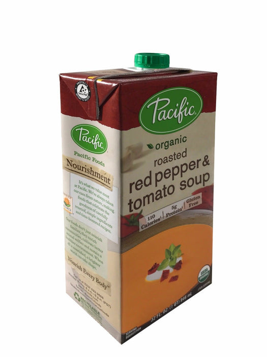 Pacific Organic Roasted Red Pepper & Tomato Soup 32 FL OZ