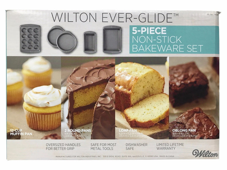 Wilton Ever-Glide 5 Piece Non-Stick Bakeware Set