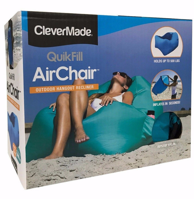 CleverMade QuikFill Air Chair Outdoor Hangout Recliner Holds up to 500 LB