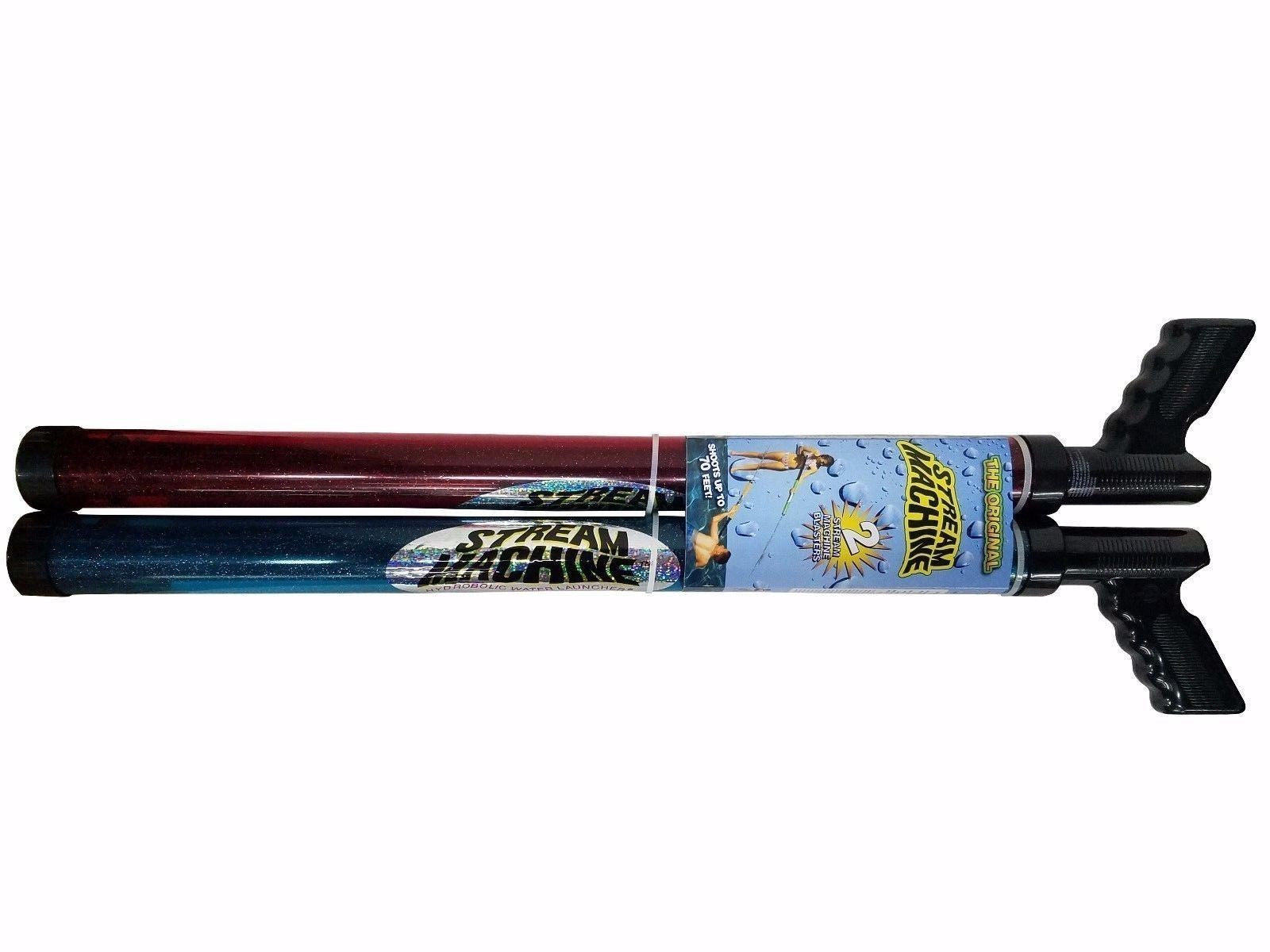 Stream Machine Water Blasters Shoots up to 70 Feet 2 Water Guns - Red & Blue